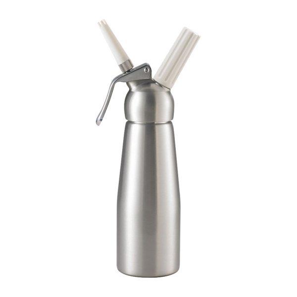 mosa whipped cream dispenser brushed aluminum